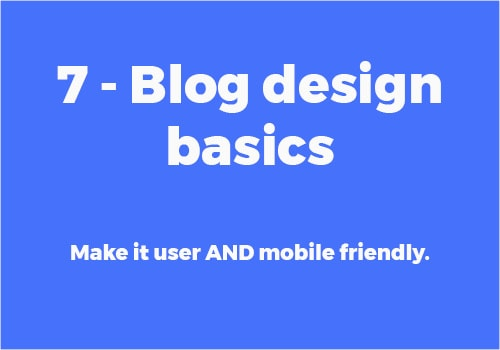 Blog Design Basics