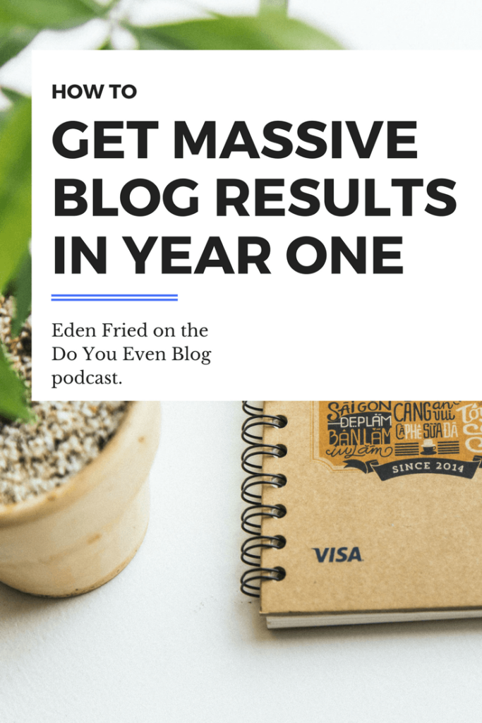 How to get massive blog results in year one Eden Fried