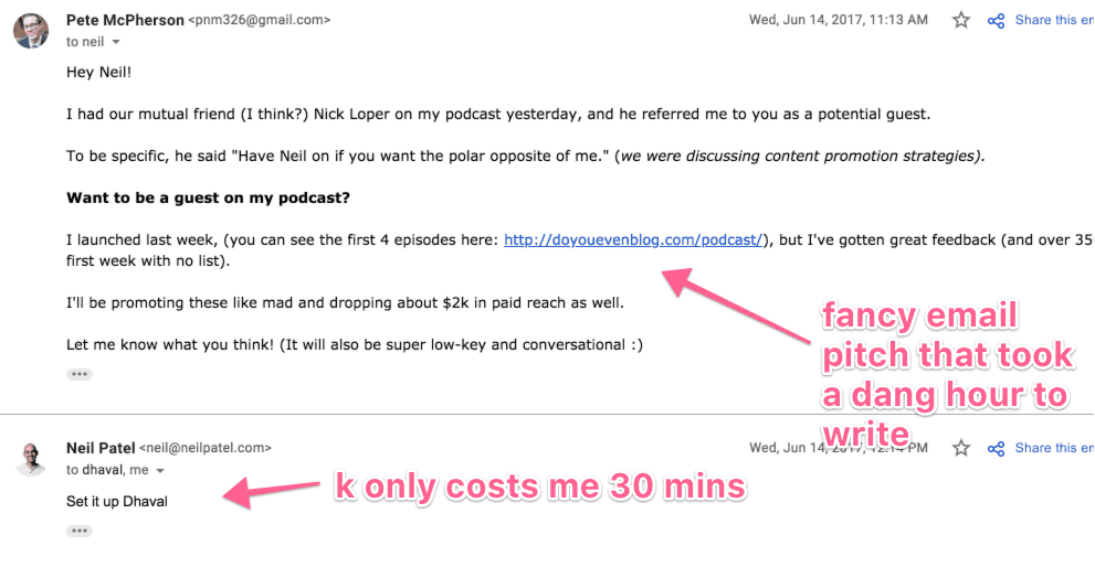 neil patel email pitch