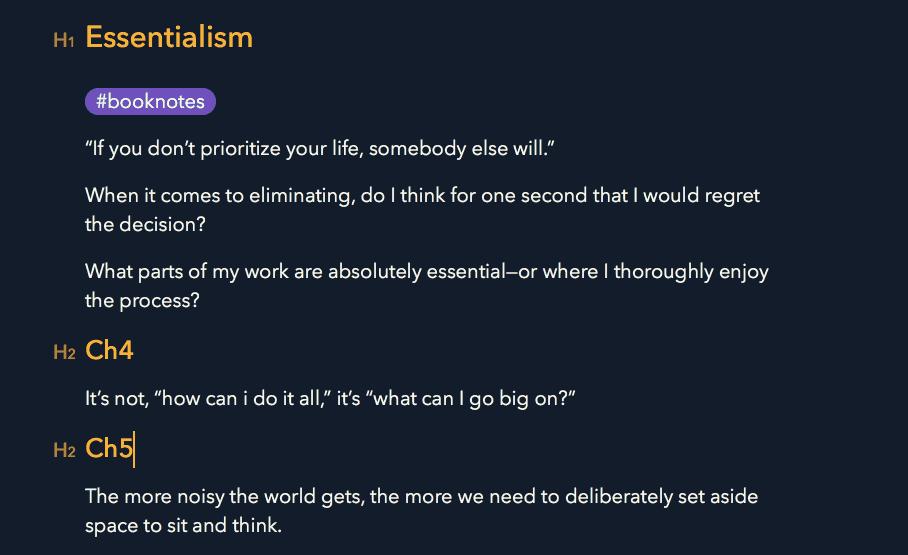 essentialism notes
