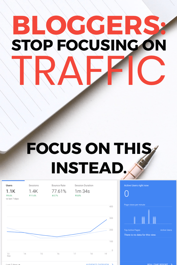 stop focusing on blog traffic
