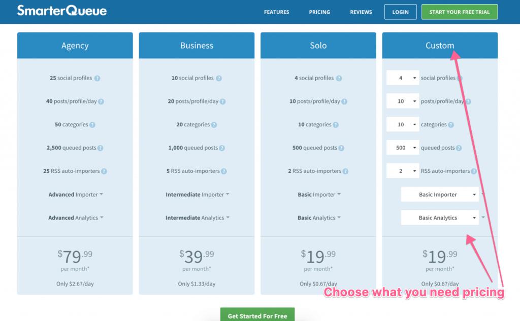 smarterqueue pricing