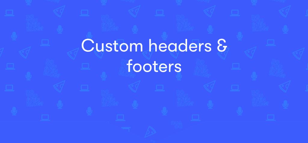 elementor custom headers