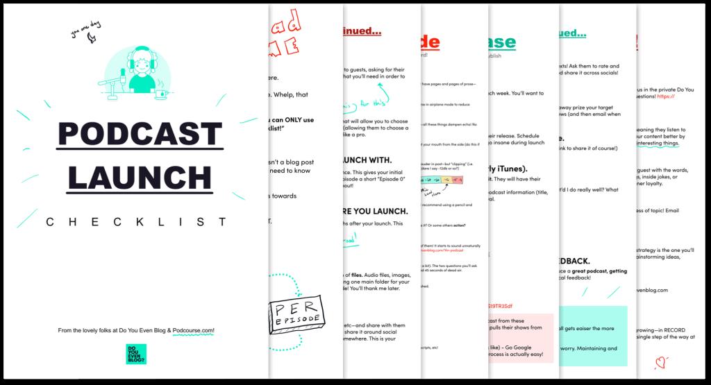 podcast launch checklist graphic